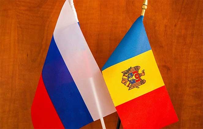 Флаг России и Молдовы