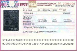 Деловая виза в Россию