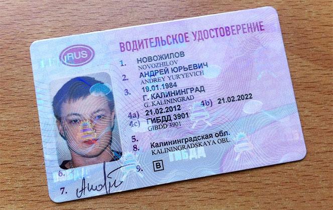 Расшифровка новых водительских прав