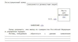 Заявления о выходе из гражданства в упрощенном
