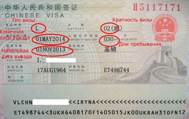 Оформление визы для посещения Китая